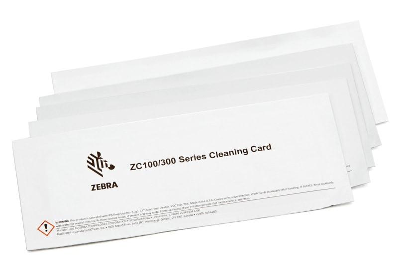 Zebra Reinigungskarten, 5 Karten, 105999-311
