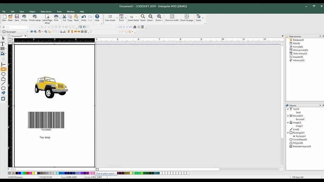 Etikettendrucksoftware-Codesoft-ANTEGIS